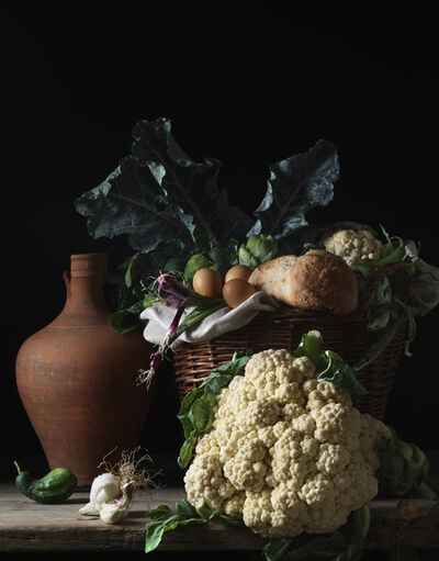 Paulette Tavormina, 'Still Life with Cauliflower and Bread, after L.M.', 2014