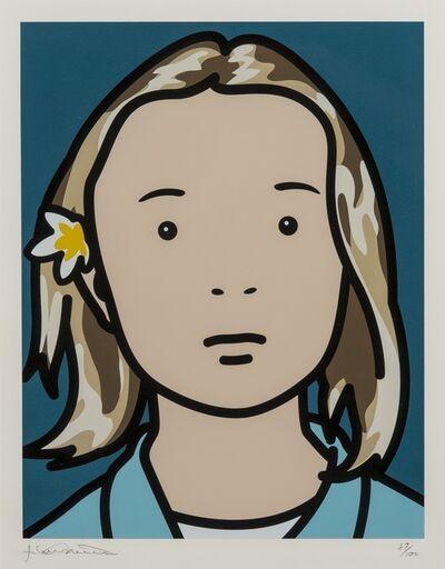 Julian Opie, 'Elena, schoolgirl (with lotus blossom) (Cristea 103)', 2006