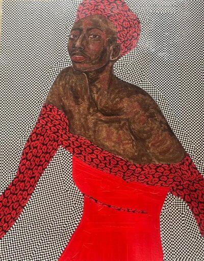 Serge Attukwei Clottey, 'Red Kisses', 2020