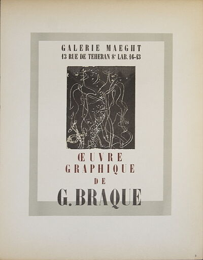 Georges Braque, 'Galerie Maeght', 1959
