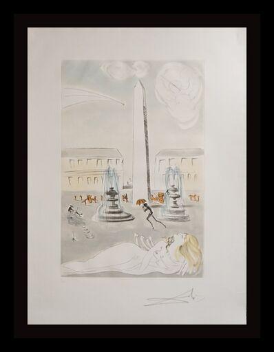 Salvador Dalí, 'Gala et L'Obelisque de la Concorde', 1963