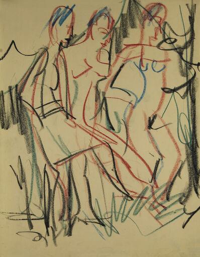 Ernst Ludwig Kirchner, 'Tanzende Frauen im Wald', ca. 1925