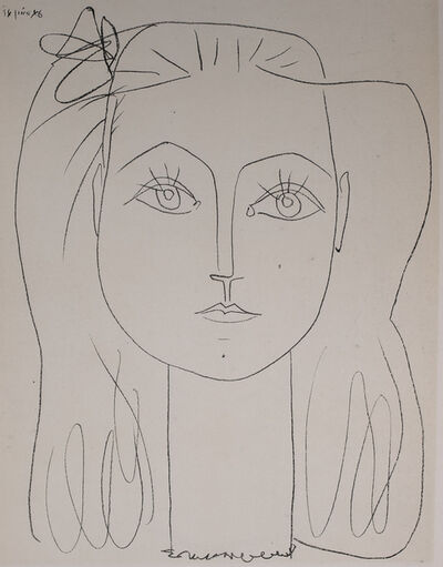 Pablo Picasso, 'Francoise, 1949 Limited edition Lithogrph by Pablo Picasso', 1949