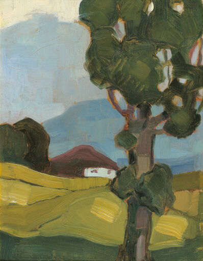 Herbert Gurschner, 'Summer Landscape with House and Tree', 1920