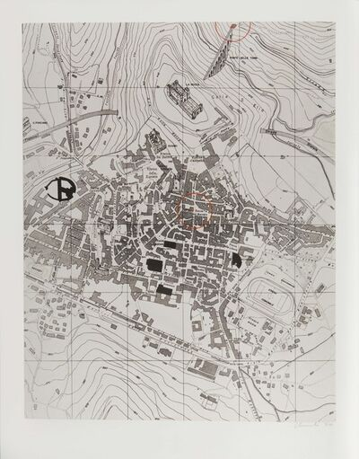 Christo, 'Pianta di Spoleto/Spoleto's map', 1972