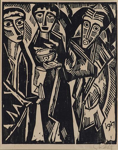 Karl Schmidt-Rottluff, 'Die Heiligen drei Könige, from Ten Woodcuts by Schmidt-Rottluff (Zehn Holzschnitte von Schmidt-Rottluff)', 1917
