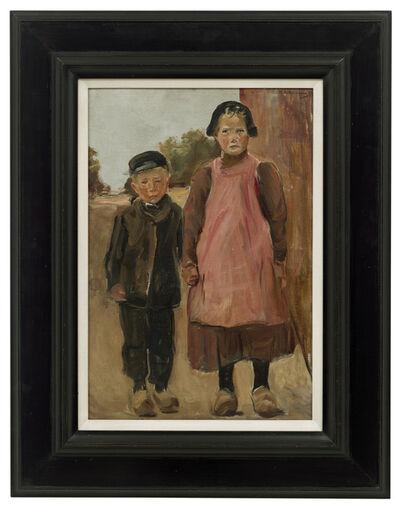 Max Liebermann, 'Junge und Mädchen auf der Dorfstraße', 1899
