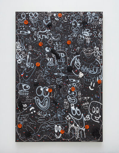 Devin Troy Strother, 'Black ghosts & basketballs', 2019