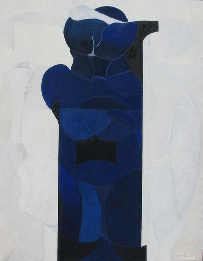 Luis López Loza, 'Estructura azul sobre blanco', 2007