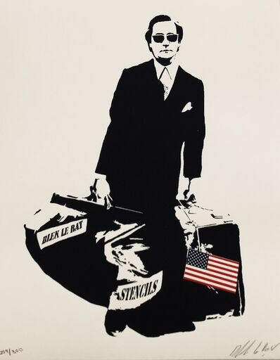 Blek le Rat, 'The Man Who Walks Through Walls in luxury book-case with gold foil rat on top. This Iconic piece is the special USA edition.', 2008