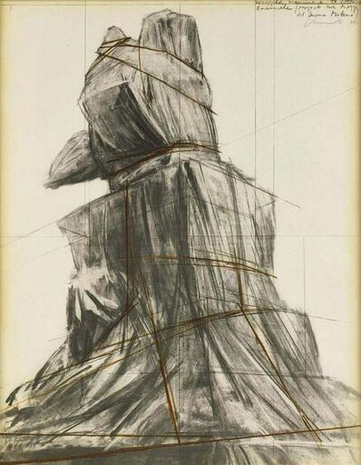 Christo, 'Wrapped monument to Vittorio Emanuele', 1976