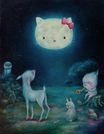Dilka Bear, 'Kittymoon', 2019
