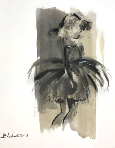 Bonnie Walters, 'Ballerina with Pony Tail (from side)'