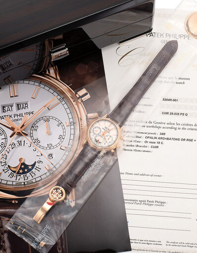 Patek Philippe, 'A very fine and attractive pink gold perpetual calendar split-second chronograph wristwatch with moon phases, day/night indication, certificate of origin and fitted presentation box, single sealed', 2017