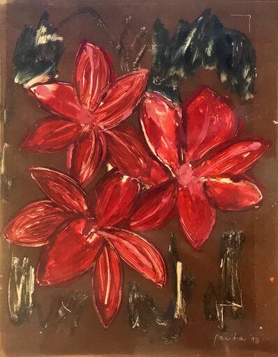 Pacita Abad, 'Red amaryllis', 1993