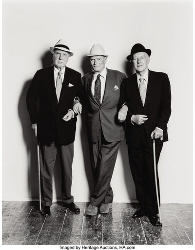 Terence Donovan, 'Sir Ralph Richardson, Lord Olivier, and Alec Guinness', 1980