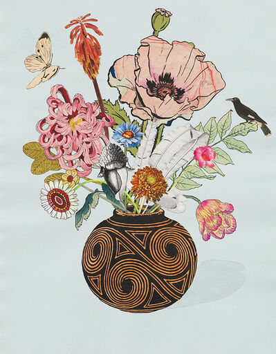 Jane Hammond, 'Spiral Vase with Oriental Poppy and Pitcher Plant', 2014
