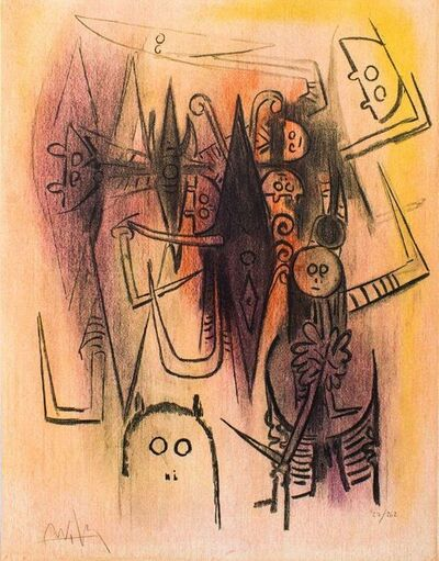 "Wifredo Lam, 'Clairière - from the suite ""Pleni Luna""', 1974"