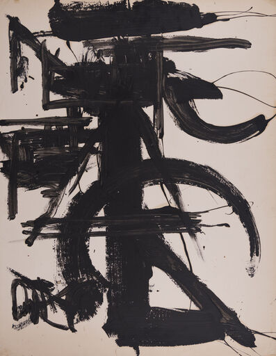 Michael Corinne West, 'Black and White with Abstract', ca. 1970