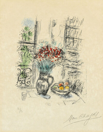 Marc Chagall, 'Les roses pompon', 1974