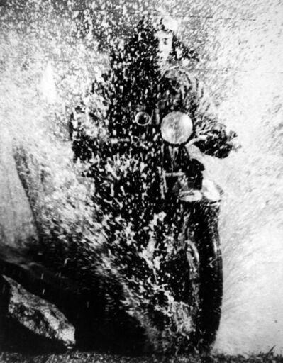Martin Munkácsi, 'Motorcyclist, Budapest ', ca. 1923