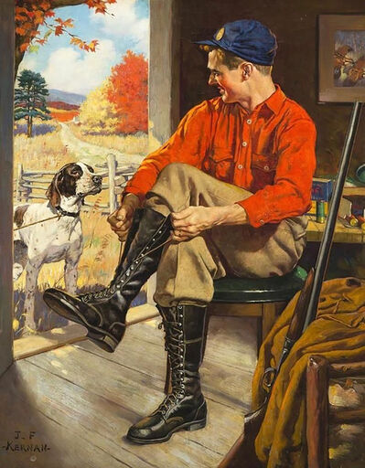 Joseph Francis Kernan, 'Hunter in Camp', 1948
