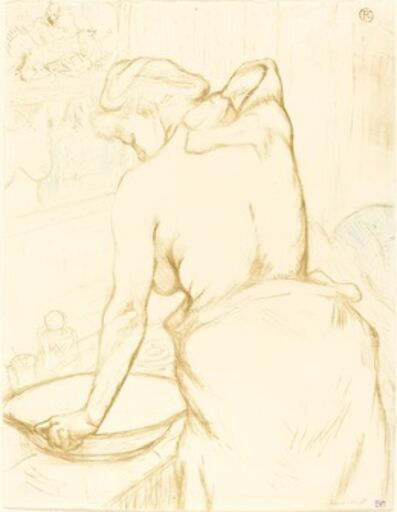 Henri de Toulouse-Lautrec, 'Woman Washing Herself (Femme qui se lave)', 1896
