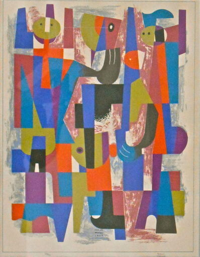Carlos Merida, 'Aprendiz de Agorero', 1969