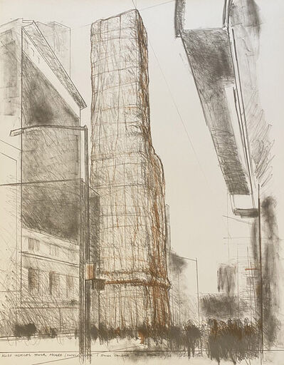 Christo, 'Allied Chemical Tower Packed (Project for One Times Square, New York)', 1971