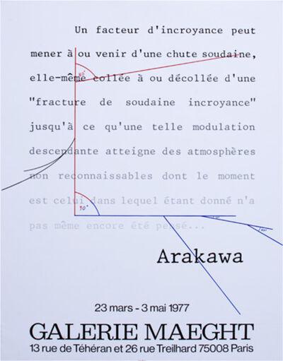 Shusaku Arakawa, 'Galerie Maeght poster', 1977