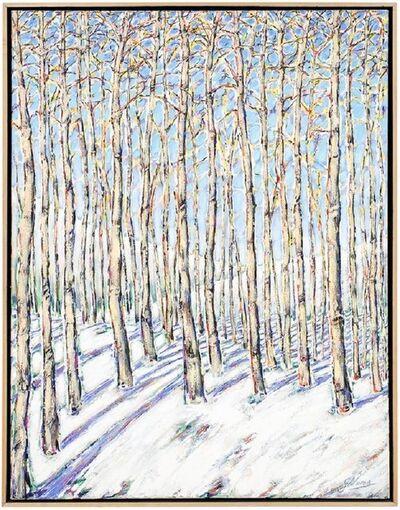 Gustavo Novoa, 'Aspen Grove, Large Scale Beautiful Landscape Snow Scene', Late 20th Century