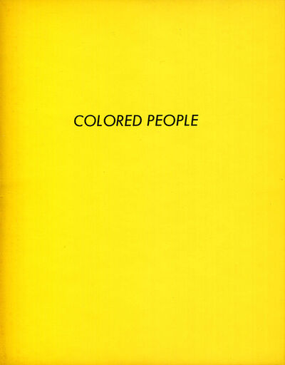 Ed Ruscha, 'Colored People', 1972