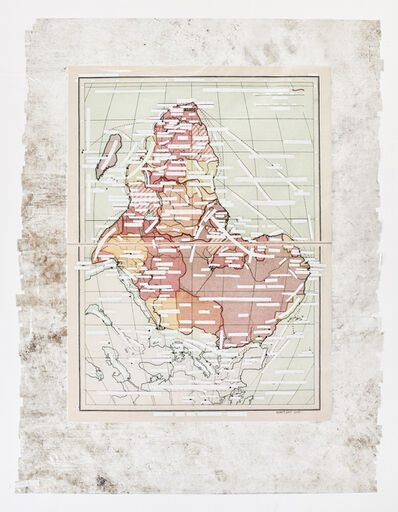 Mikhael Subotzky, 'Sticky-tape Transfer 22 - South (or Africa-Political and Sea Routes)', 2017