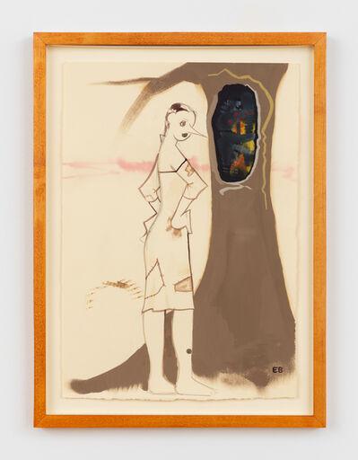 Ellen Berkenblit, 'Woman looking at technology in tree', 1998