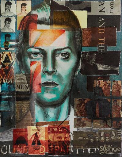 Charlotta Janssen, 'David Bowie (Collaged Print #3)', 2018