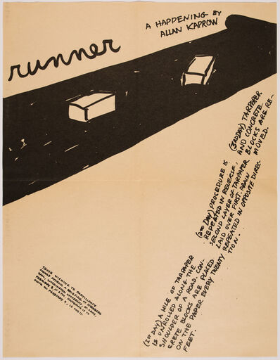 Allan Kaprow, 'Runner, A Happening by Allan Kaprow', 1968