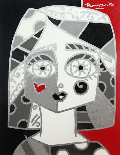 Romero Britto, 'Silver Girl', 2015