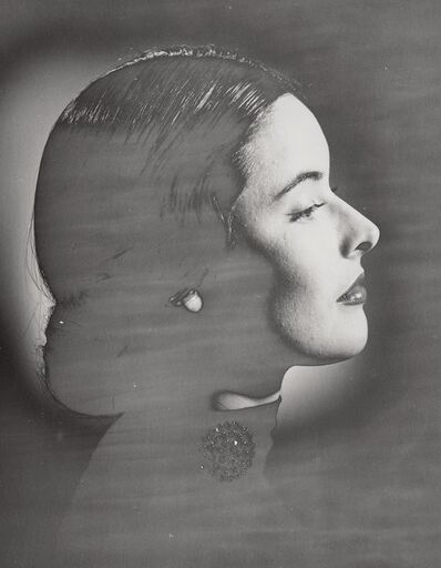 Erwin Blumenfeld, 'Suzy Parker Solarized Profile with Jewelry, New York', 1946-47