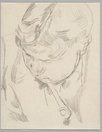 Duncan Grant, 'David 'Bunny' Garnett Smoking a Pipe', 1918