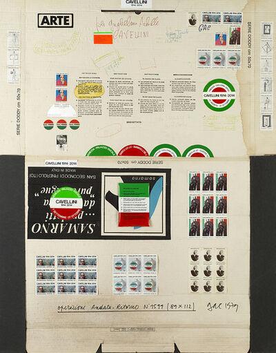 Guglielmo Achille Cavellini, 'Operazione andata e ritorno n.1599', 1979