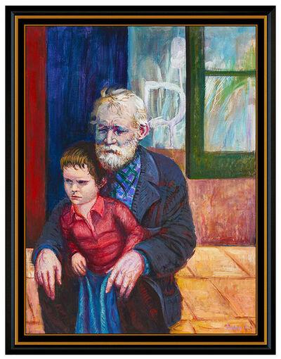 Pino Daeni, 'PINO Daeni Oil Painting on Canvas Original Large Portrait Signed Framed Artwork', 1976