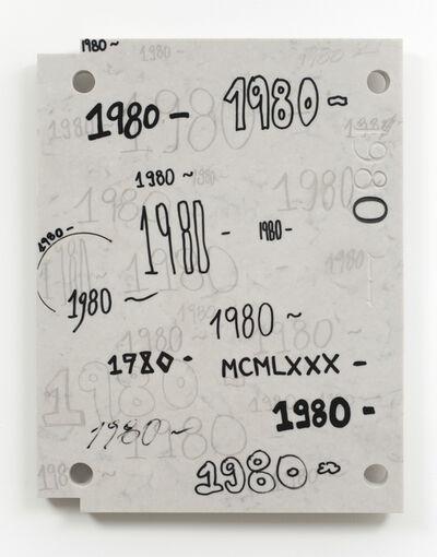 Analia Saban, 'Study for Gravestone Writing (1980 - )', 2013