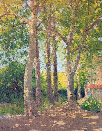 Achille Laugé, 'Paysage aux Grands Arbres', 1916
