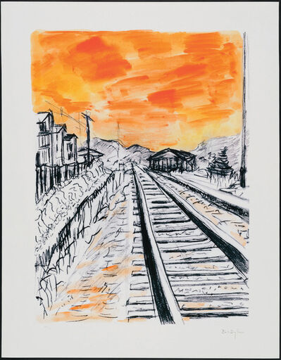 Bob Dylan, 'Train Tracks 2020 - Orange', 2020