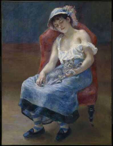Pierre-Auguste Renoir, 'Sleeping Girl', 1880