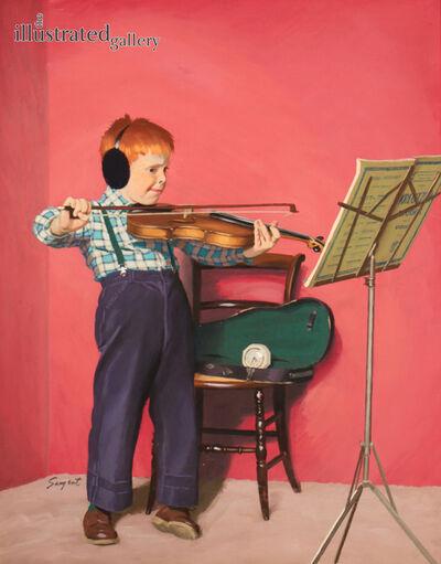 Richard Sargent, 'Violin Practice, Saturday Evening Post Cover', 1955