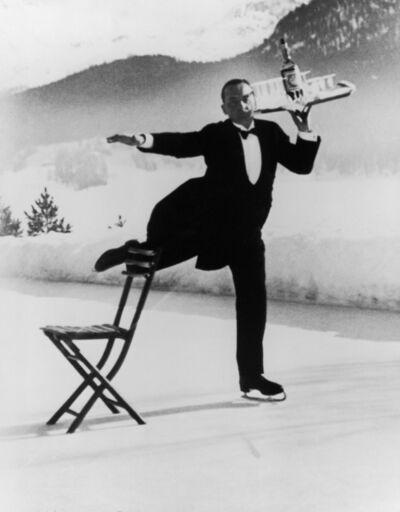 Alfred Eisenstaedt, 'Ice Skating Waiter, Grand Hotel, St. Moritz', 1932
