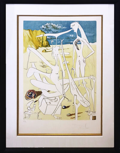 Salvador Dalí, 'INFRATERRESTRIALS ADORED BY DALI', 1974