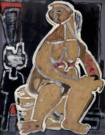Jankel Adler, 'Seated Woman', ca. 1943