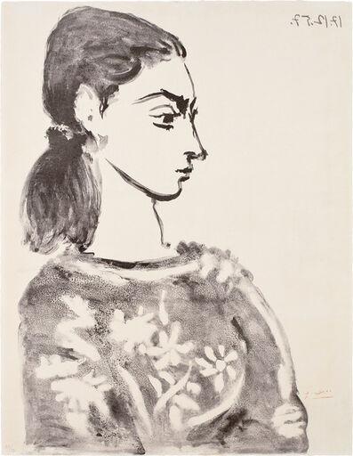 Pablo Picasso, 'Femme au corsage à fleurs (Woman with Flower Bodice) (Jacqueline Roque)', 1957